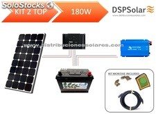 Kit solar fotovoltaico 2 top 180w