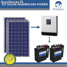 Kit Solar Fotovoltaico 4500Wh/dia Power