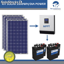 Kit Solar Fotovoltaico 5500wh/dia Power
