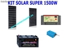 Kit solar super 1500 para tv y nevera bajo consumo