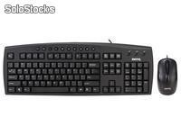 Kit Teclado/Mouse BenQ i150 Multimedia USB Negro
