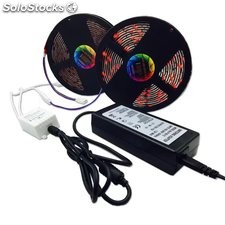 kit tira led flexible SMD5050 12v RGB IP65 10 metros