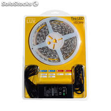 Kit tira led flexible smd5050 5m (60 led/m) - ip65 blanco cálido
