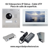 Kit Videoportero IP Dahua por cable UTP placa de calle de superficie