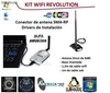 Kit Wifi Revolution con Alfa 1000mW + 3 metros Cable Wifi