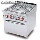Kitchen gas water-mod. cfa4/98g-# 4 burners-gas oven gn solid state