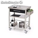 Kitchen trolley - mod. 689701 auxilium - made from stainless steel - black