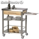 Kitchen trolley - mod. 691701 auxilium - made from stainless steel - stainless