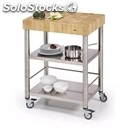 Kitchen trolley - mod. 693700 auxilium - made from stainless steel - white end