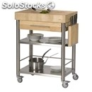 Kitchen trolley - mod. 693701 auxilium - made from stainless steel - end grain