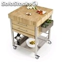 Kitchen trolley - mod. 693772 auxilium - made from stainless steel - end grain