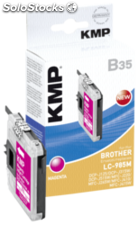 KMP B35 Cartucho magenta compatible con Brother LC-985 M