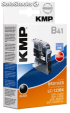 KMP B41 Cartucho negro compatible con Brother LC-123 BK