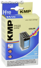 KMP H10 Cartucho color compatible con HP C 6578 A