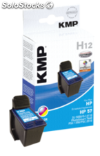 KMP H12 Cartucho color compatible con HP C 6657 AE