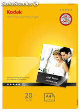 Kodak 280gsm ULTRA Glossy Photo Paper A4 (20 folhas)