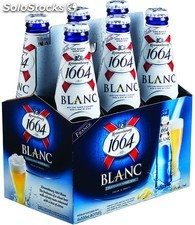 kronenbourg Beer 1664 blanc Can and Bottle