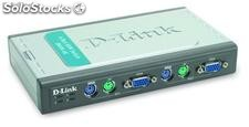KVM Switch D-Link 4 Puertos PC