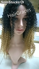 Lace wig human hair perruque naturelle bresilien couleur ombre