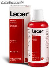 Lacer colutorio 500 ml + 100 ml promoción ( 600 ml )