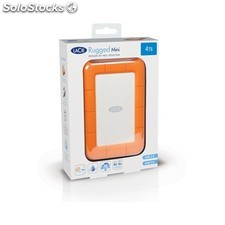 LaCie - Rugged Mini, 2TB 2000GB Aluminio, Naranja disco duro externo