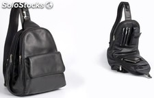 Ladies Back Sack Black Cowhide Nappa