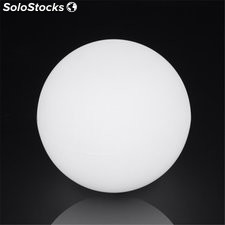 Lampara Bola Dec 40Cm E27 Ip65 Pe Blanca Retroilu Ext. Spher