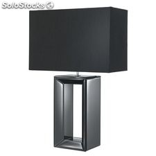 Lámpara de mesa negro Element E27 60W H58cm