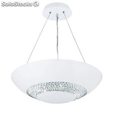 Lámpara de techo blanco mate Halo LED 24W 5000K 1400Lm H90cm