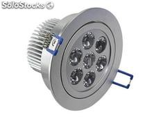 lampara downlight led de 7 watts blanco