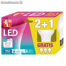 Lampara Ilumin Led Estan E27 9W 810Lm 6500K 2+1 4U 3 Pz