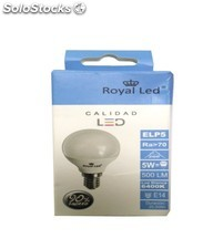 Lampara iluminacion royal led led esferica 6400K E14 5W 500LM 110923