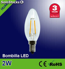 Lampara led 2W(Transparente)