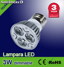 Lampara led 3W ( Regulables)