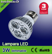 Lampara led 3W ( Regulables?