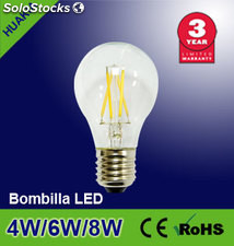Lampara led Bombilla led 6W( A60 Transparente)