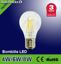 Lámpara led Bombilla led 8W( A60 Transparente?