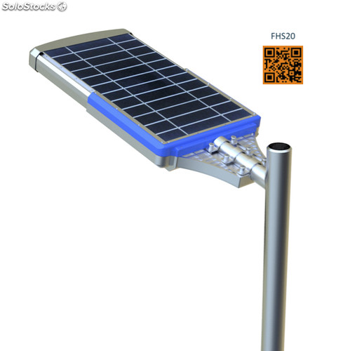 Lampara solar iluminacion publica for Lampara solar led