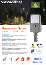 Lampara solar led 15W -4200Lm tecnologia philips /greenpower