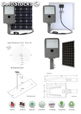 Lampara solar led 50W -6600Lm tecnologia philips /greenpower