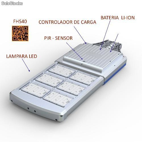 Lampara solar led integrada todo en uno fhs40 for Lampara solar led