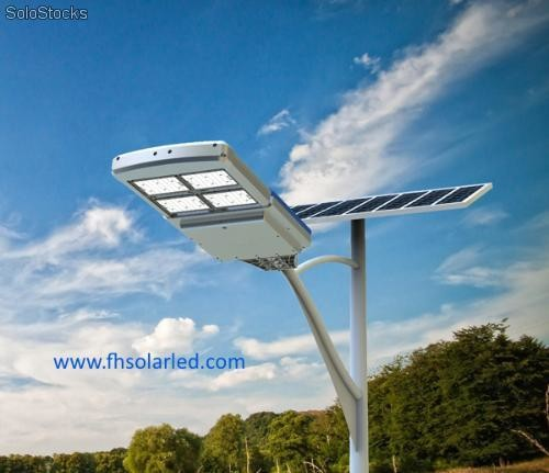 Lamparas solar led integradas de calle 72w 96w for Lampara solar led