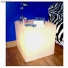 Lampe Table de Nuit plexiglas luminis blanc - Photo 1