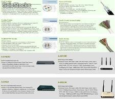 Lan cable/Fiber optic cable/wireless adapter/router/switch/cable tool and tester
