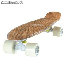 "Land Surfer Cruiser Skateboard 22"" wood pva board solid White wheels"