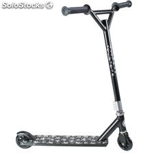 Land Surfer Stunt Scooter Black and Small Skulls