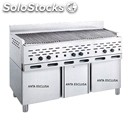 Lava stone grill - mod. 2100/r3p - open single unit compartment - power kw/h