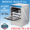 Lavavajillas Industrial ARISCO Cesta 40x40