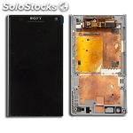 Lcd + tactil para sony xperia j - (ST26) original color blanco
