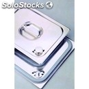 Leak-proof lid for stainless steel gastronorm containers - with silicone seal